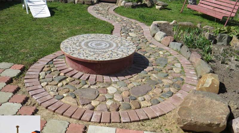 Садовая дорожка из натурального камня своими руками.